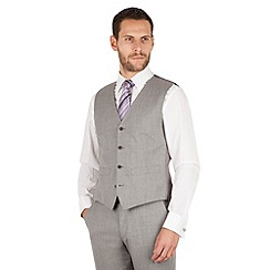 J by Jasper Conran - J by Jasper Conran Light grey 4 button front tailored fit italian suit waistcoat
