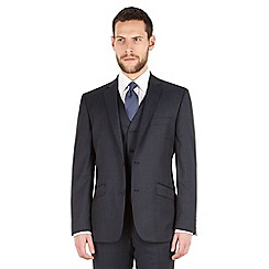 J by Jasper Conran - J by Jasper Conran Blue windowpane check 2 button front tailored fit luxury suit