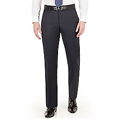 J by Jasper Conran - J by Jasper Conran Blue windowpane check flat front tailored fit luxury suit trouser