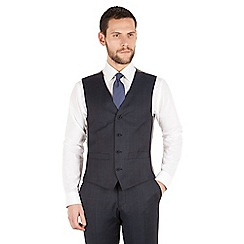 J by Jasper Conran - J by Jasper Conran Blue windowpane check 4 button front tailored fit luxury suit waistcoat