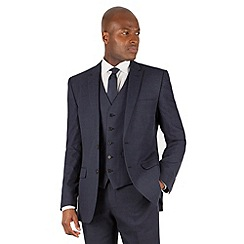 The Collection - Blue tonal check tailored fit 2 button suit jacket