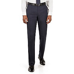The Collection - Blue tonal check tailored fit suit trouser