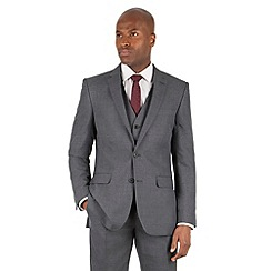 The Collection - Grey tonal check tailored fit 2 button suit jacket
