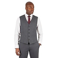 The Collection - Grey tonal check 5 button front waistcoat