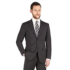 The Collection - Charcoal tonal stripe regular fit 2 button washable suit jacket
