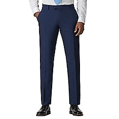Occasions - Blue plain regular fit suit trouser