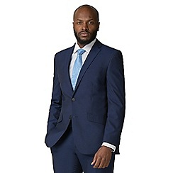 Occasions - Blue plain tailored fit 2 button suit jacket