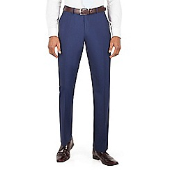 Occasions - Blue plain tailored fit suit trouser