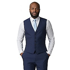Occasions - Blue plain regular fit 5 button waistcoat