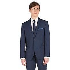 Red Herring - Blue puppytooth slim fit 2 button front suit