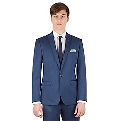 Red Herring - Bright blue micro slim fit 1 button suit jacket