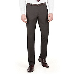 Red Herring - Charcoal pindot slim fit suit trouser