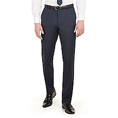 Red Herring - Navy pindot slim fit suit trousers