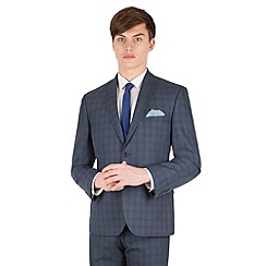 Red Herring - Airforce blue check 2 button front slim fit suit