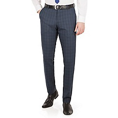 Red Herring - Airforce blue check slim fit trouser