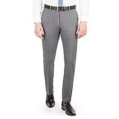 Red Herring - Grey with blue overcheck slim fit trouser