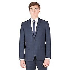Red Herring - Navy tonal check slim fit 2 button suit