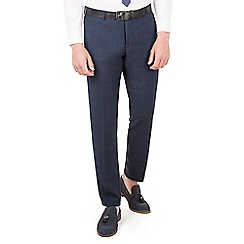 Red Herring - Navy tonal check slim fit trouser