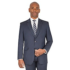 Centaur Big & Tall - Navy semi plain big and tall 2 button front regular fit suit jacket