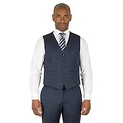 Centaur Big & Tall - Navy semi plain big and tall 5 button front waistcoat