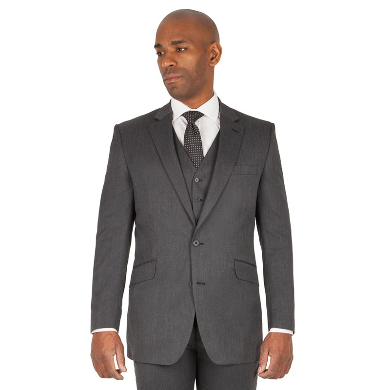 a8e735f16 Centaur Big   Tall - Charcoal Semi Plain Big And Tall 2 Button Regular Fit  Suit Jacket - £30.00 - Bullring   Grand Central
