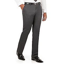 Centaur Big & Tall - Charcoal semi plain big and tall suit trouser