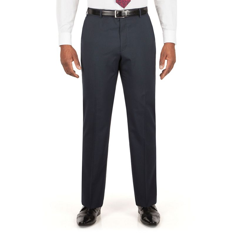 Centaur Big and Tall Navy Stripe Suit Trouser, Mens, Size: