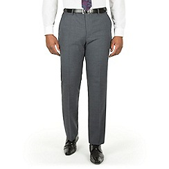 Centaur Big & Tall - Grey check big and tall suit trouser