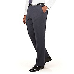 Centaur Big & Tall - Slate blue puppytooth big and tall suit trouser