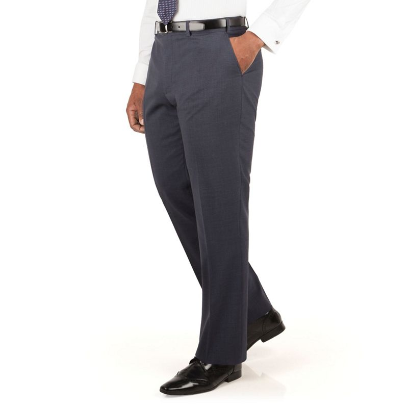 Centaur Big and Tall Slate Blue Puppytooth Suit Trouser,