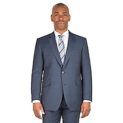 Centaur Big & Tall - Slate blue check big and tall 2 button front regular fit suit jacket
