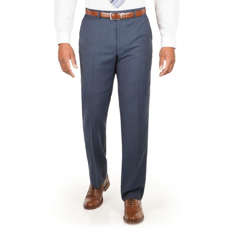 Centaur Big & Tall Slate Blue Check Suit Trouser, Mens,