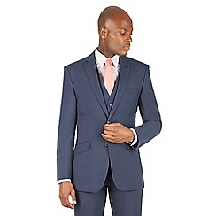Racing Green - Blue tonal puppytooth tailored fit 2 button suit jacket