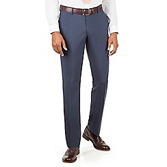 Racing Green - Blue tonal puppytooth tailored fit suit trousers