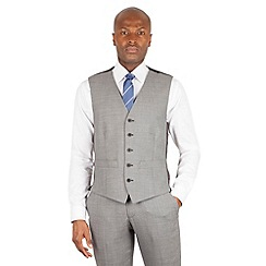 BEN SHERMAN - Light grey slim fit kings suit waistcoat