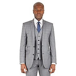Ben Sherman - Grey heritage check 2 button front slim fit kings suit jacket
