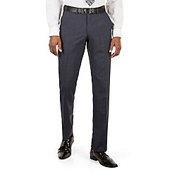 Ben Sherman - Slate blue tonal check slim fit kings suit trousers
