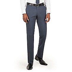 BEN SHERMAN - Slate blue textured slim fit kings suit trouser
