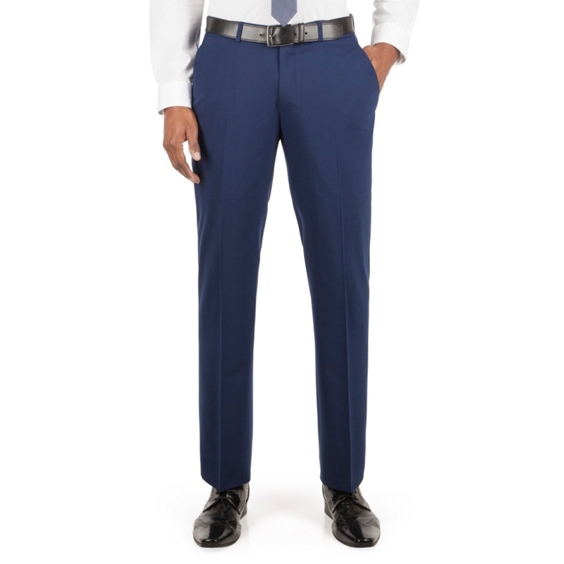 Stvdio Performance by Jeff Banks Blue Plain Front Tailored