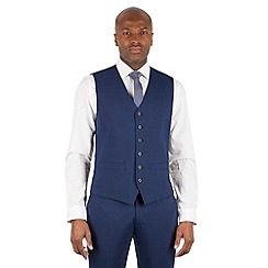 Stvdio Performance by Jeff Banks - Blue 6 button front tailored fit waistcoat
