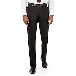 Stvdio Performance by Jeff Banks - Studio Performance by Jeff Banks Black plain front tailored fit trouser