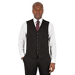 Stvdio Performance by Jeff Banks - Studio Performance by Jeff Banks Black 6 button front tailored fit waistcoat