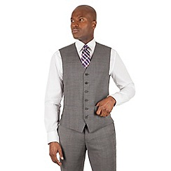 Stvdio Performance by Jeff Banks - Studio Performance by Jeff Banks Grey check 6 button front tailored fit waistcoat