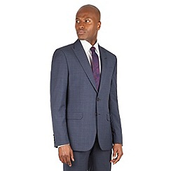 Stvdio by Jeff Banks - Stvdio by Jeff Banks Teal check 2 button front ivy league fit suit jacket