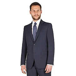 Jeff Banks - Jeff Banks Blue tonal check 2 button front regular fit luxury suit jacket