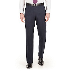 The Collection - Blue tonal check regular fit suit trouser