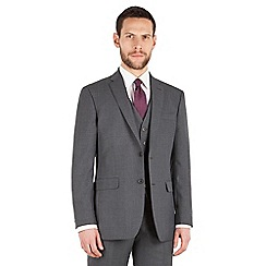 The Collection - Grey tonal check regular fit 2 button suit jacket