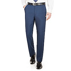 The Collection - Blue panama regular fit washable suit trouser