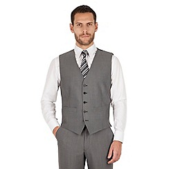 The Collection - Mid grey panama 5 button regular fit washable waistcoat