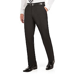 The Collection - Black panama regular fit washable suit trousers
